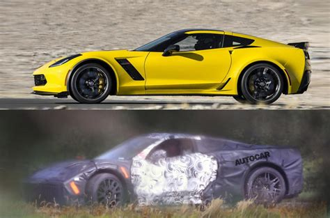mid engined chevrolet corvette c8 spotted testing autocar