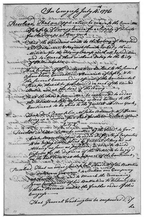 most up letter declaration of independence letter hancock to washington re declaration