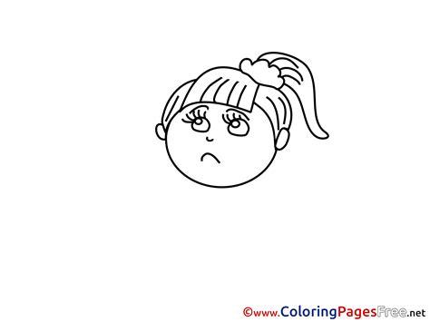 coloring page of sad girl sad girl printable coloring sheets download
