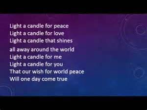 songs about light light a candle for peace with lyrics