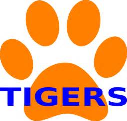 orange paw print tigers clip art at clker com vector