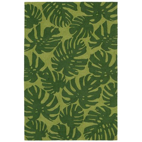 lucca jungle leaf green 3 ft 6 in x 5 ft 6 in