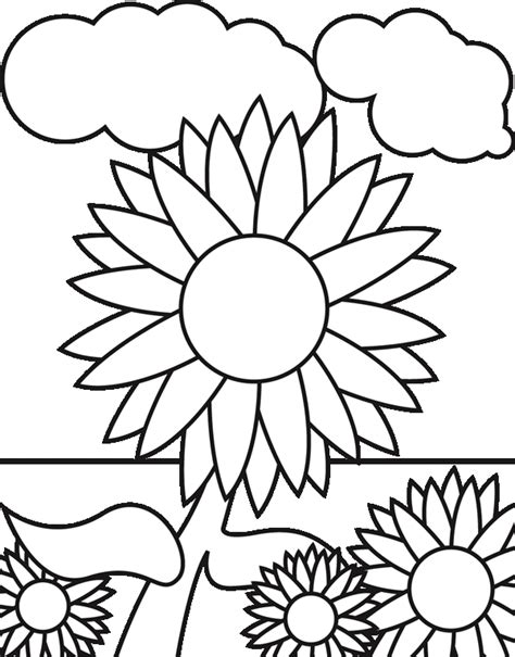 abstract sunflower coloring page sunflower coloring pages for preschoolers img 616235