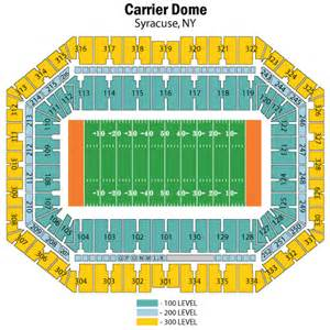 map of dome seating syracuse orangemen football vs forest deacons