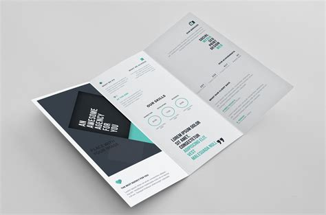 2 fold brochure template psd 1 best agenda templates
