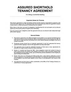 ast agreement template 100 free assured shorthold