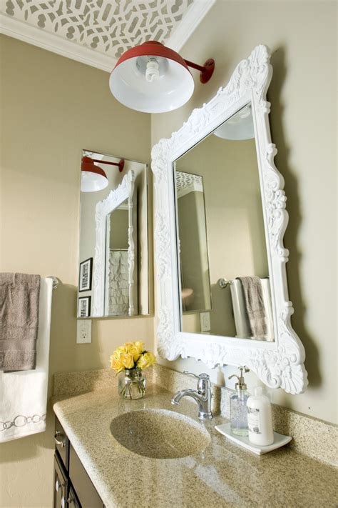 decorating bathroom mirrors cool how to make a framed mirror from bathroom mirror
