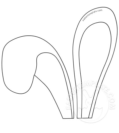 bunny ears template easter craft bunny ears templates happy easter