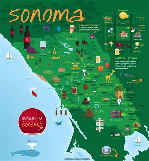 sonoma winery map sonoma california map california map