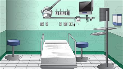 computer emergency room inside a hospital emergency room clipart vector