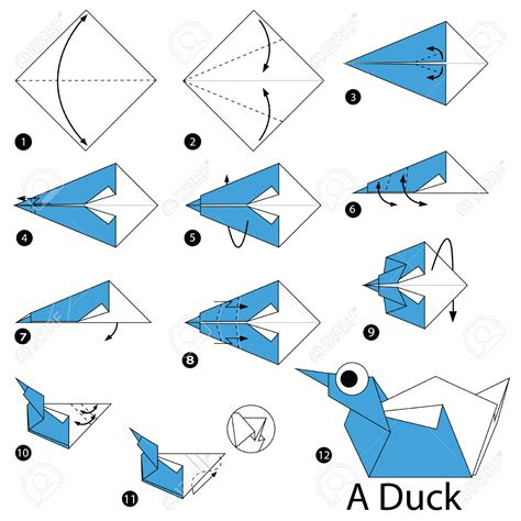 How To Make A Paper Duck Step By Step - origami step by step how to make origami a