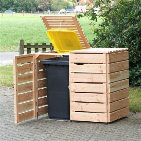 trash can storage storage bins outdoor garbage can storage bin trash plans