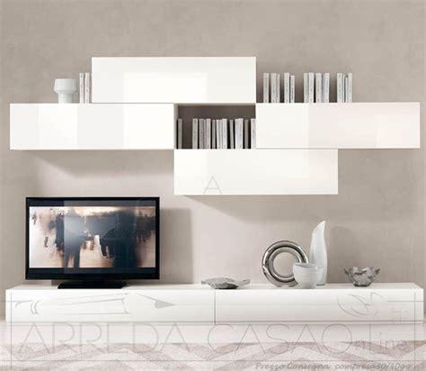 mobile soggiorno laccato bianco