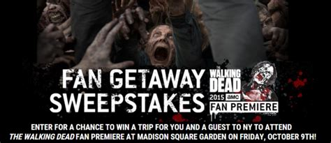 Walking Dead Play Dead Sweepstakes - the walking dead carpet sweepstakes meze blog