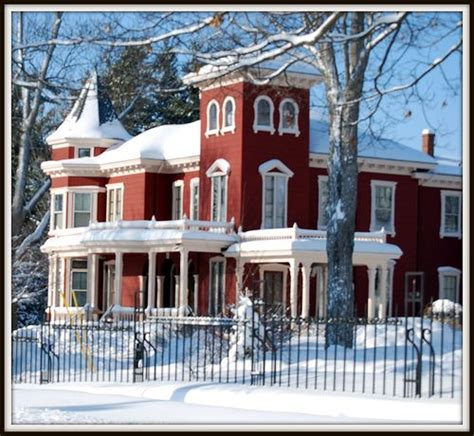 stephen home in the winter in bangor maine travel