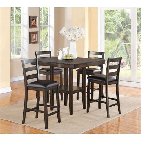 counter dining room sets tahoe mango 5 piece counter height dining set