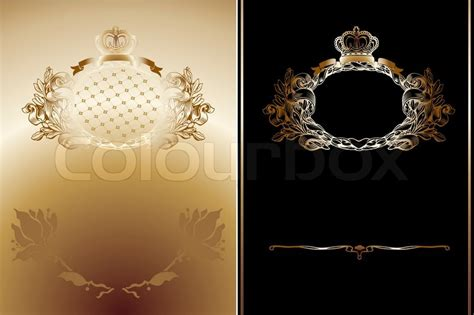Home Design Victorian Style gold and black high ornate royal backgrounds stock