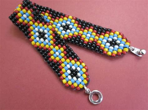 beaded friendship bracelet patterns loomed seed bead friendship pattern squarestitch bracelet