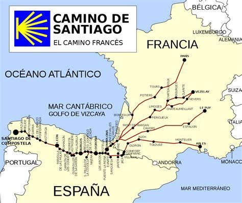camino de pelgrimsroute naar santiago de compostella