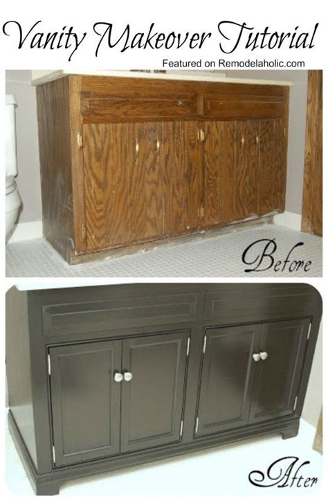 Diy Bathroom Vanity Makeover Diy Bathroom Vanity Update Woodworking Projects Plans