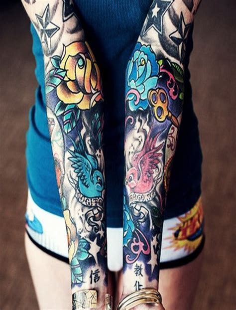 girls with sleeve tattoos sleeves for jpg 800 215 1050 designs
