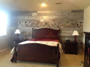 wood plank wall bedroom here is an accent wall in a home
