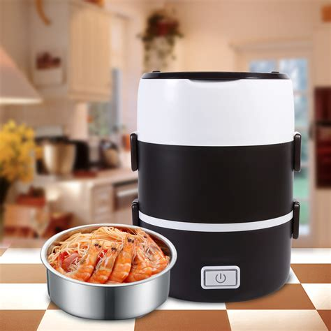 heat l food warmer 220v 16 x 23cm 3 tier electric heat lunch warmer