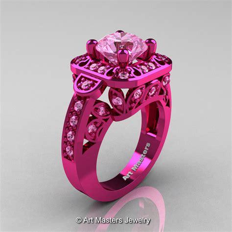light pink sapphire engagement rings masters 14k fuchsia pink gold 2 0 ct light