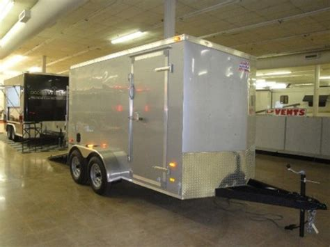american swing trailer 2014 american hauler cargo trailer with wedge nose and
