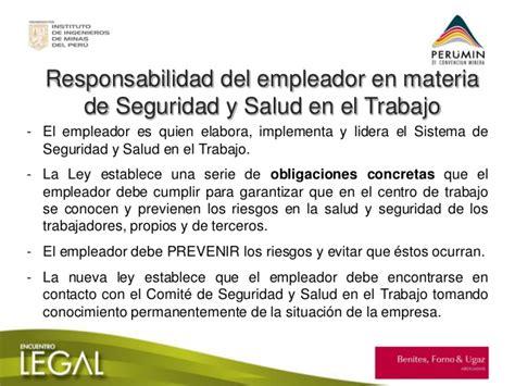 ley del trabajo en venezuela y la seguridad y salud laboral perumin 31 impacto de la ley de seguridad y salud en el