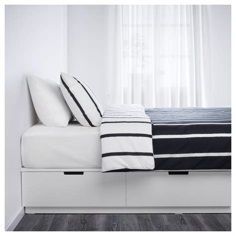 nordli bed frame with storage white 140x200 cm ikea