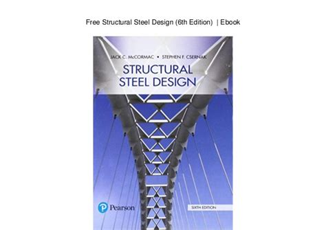 Free Structural Steel Design 6th Edition Ebook