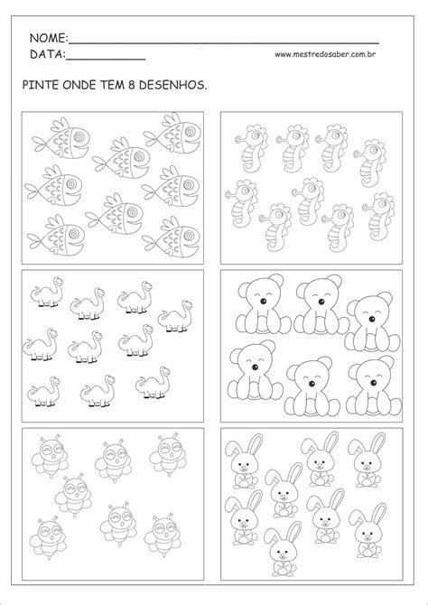 A Arte de Educar: Atividades matemática Educação Infantil