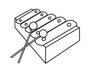 xylophone music instrument coloring pages