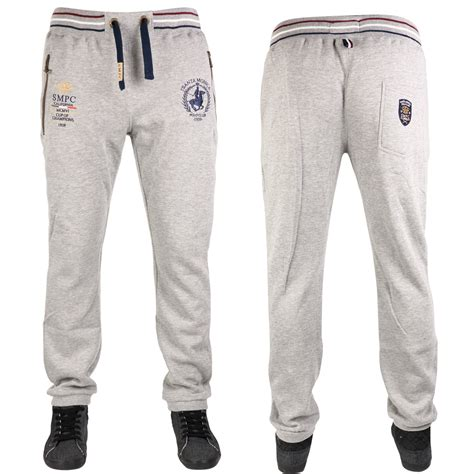 Joger Size new mens santa ambrose cuffed zip up pockets joggers size s 5xl ebay