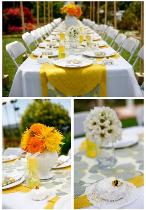 Yellow And White Baby Shower Ideas by B Is For Baby Shower Design Dazzle