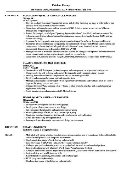 resume quality engineer kantosanpo com