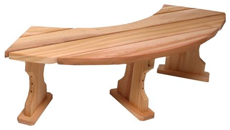 round garden bench all things cedar qr60u quarter round backless bench traditional outdoor benches
