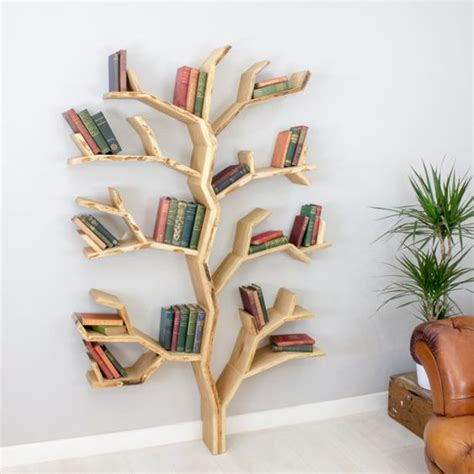 Rak Buku Dinding Pohon 6 desain rak buku unik agar suasana kamar jadi menyenangkan