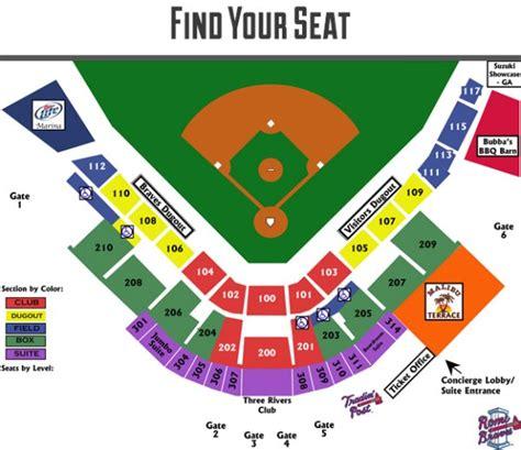 greensboro grasshoppers seating chart hickory crawdads vs rome braves pines baseball folio