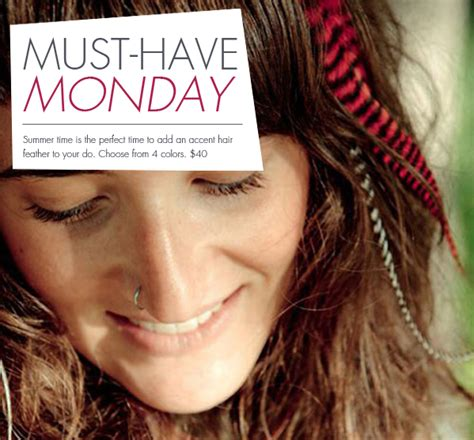 must have hair must have monday featherheads accent feathers