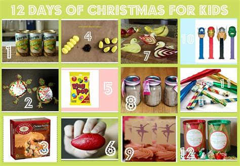 12 days of christmas gifts for kids