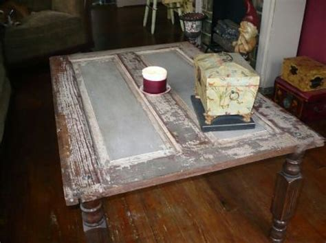Turn An Old Door Into A Coffee Table Repurpose Reuse Coffee Table Made From Door