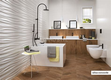 In Bathroom Vedios by Fa 239 Ence Murale C 233 Ramique Tridimentionnelle Au Design