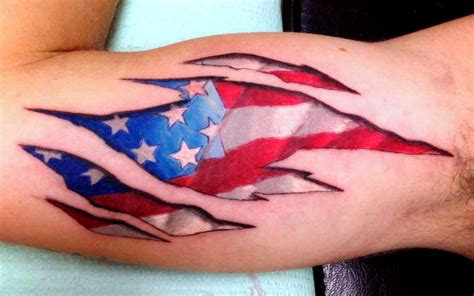 american flag tattoo by bodyartbyelf on deviantart