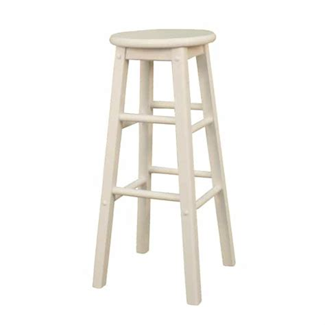 White Wood Stool by Classic White Set Of 2 Bar Stools By American Heritage