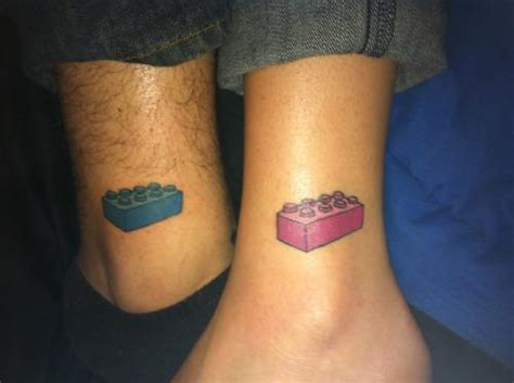 lego tattoo couple lego brick tattoo idea for couple tattoomagz