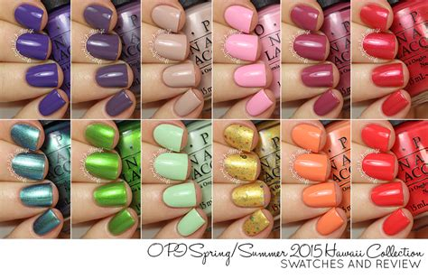 nail art and colors for march 2015 hb beauty bar opi spring summer 2015 hawaii collection