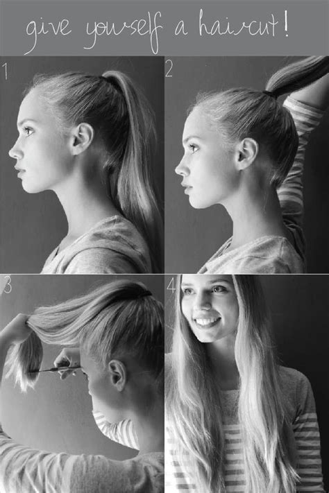 trimming hair yourself 1000 ideas about cut own hair on pinterest cut your own