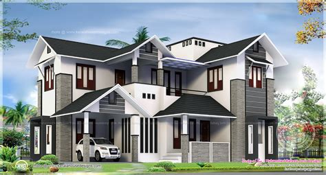 2329 square feel big house exterior indian house plans
